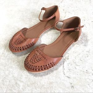Francesca's Josey Two Piece Huarache Sandal Brown